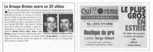 Quillorama Granby Journal Quebec Quilles 1995 copie